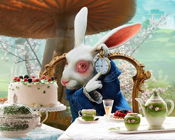 Uno de mis ejemplos favoritos... el Conejo Blanco