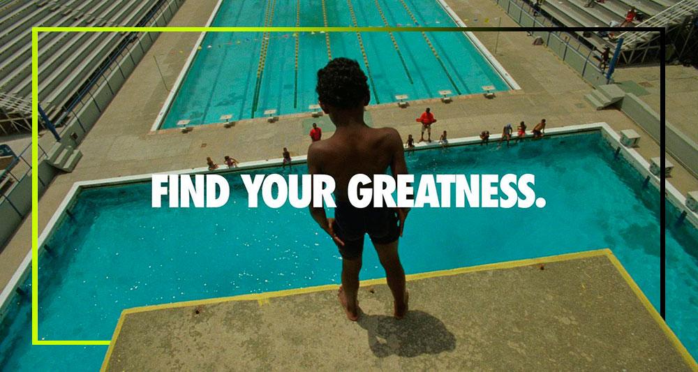 Encuentra tu grandeza. Anuncio de Nike